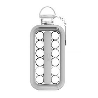 Eisball Maker Portable 2 In 1 Gefrierschrank Wasserkocher Eiswürfel Form mit Deckel (27,3 * 11,4 cm, weiß)