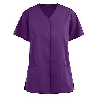 Women's Blouse Clothing Soild Short Sleeve