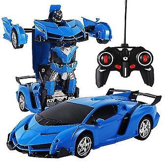 Digital cameras deformation 360 degree robot 2.4 Ghz remote deformation car robot children car toy|rc robot blue
