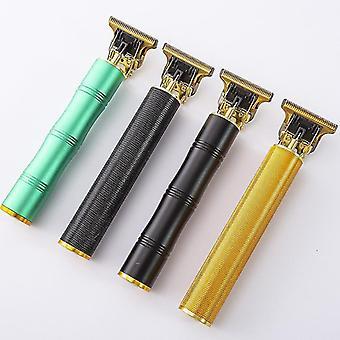 Domowy fryzjer olej główka nożyczki elektryczne t9 podwójny budda rzeźba mały pchnięcie (Slub Usb