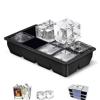 8 Gitter Platz Eiswürfel Tablett Form Eiswürfel Silikonform DIY Eis (22cm * 11,5 cm * 5 cm)