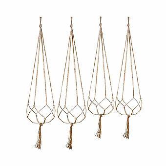 4 Stück Lanyard SalatGlas Rack Set hängende Kleiderbügel für Innen- und Außengartendekoration