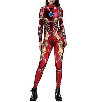 Halloween Naiset Kapteeni Amerikka Iron-man Cosplay Puku Naamiaispuku Haalari