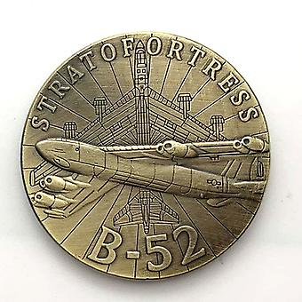 American Medal B52 Aircraft Copper-plated Commemorative Coin Collection Fighter Coin Commemorative Medal