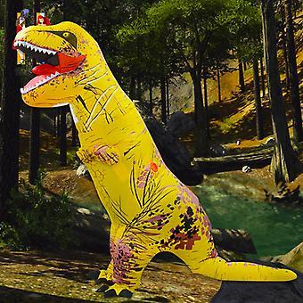 Yellow Tyrannosaurus (adult Version) Halloween Cosplay Tyrannosaurus Rex Inflatable Costume Dinosaur Costume
