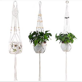 3 Pcs Plant Hanger Hanging Plant Basket Flower Pot Holder Jute Rope