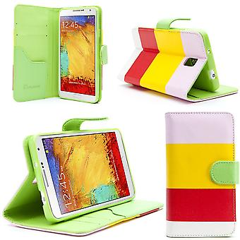 i-Blason Samsung Galaxy Note III Smart Phone Leather Slim Book Case Hue