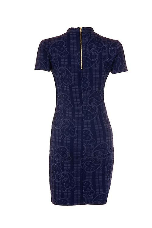 Topshop Paisley Short Sleeve Body Con Dress DR840-16
