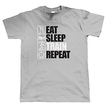 Eat Sleep Train Repeat T Shirt - Fitness, Gym, Boxing, Martial Arts, MMA