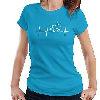 Pferd Reiter Herzschlag Damen T-Shirt