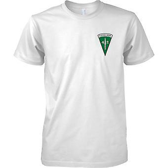 Gelicentieerde MOD-Royal Marines 40 commando-3 CDO Brigade Insignia-mens borst ontwerp T-shirt