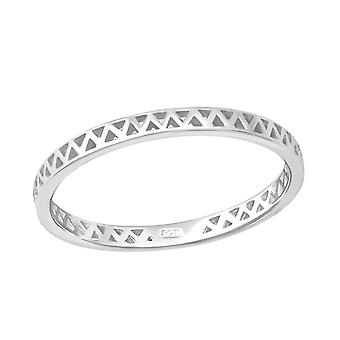 Zig Zag - 925 Sterling Silver Plain Rings - W36156x