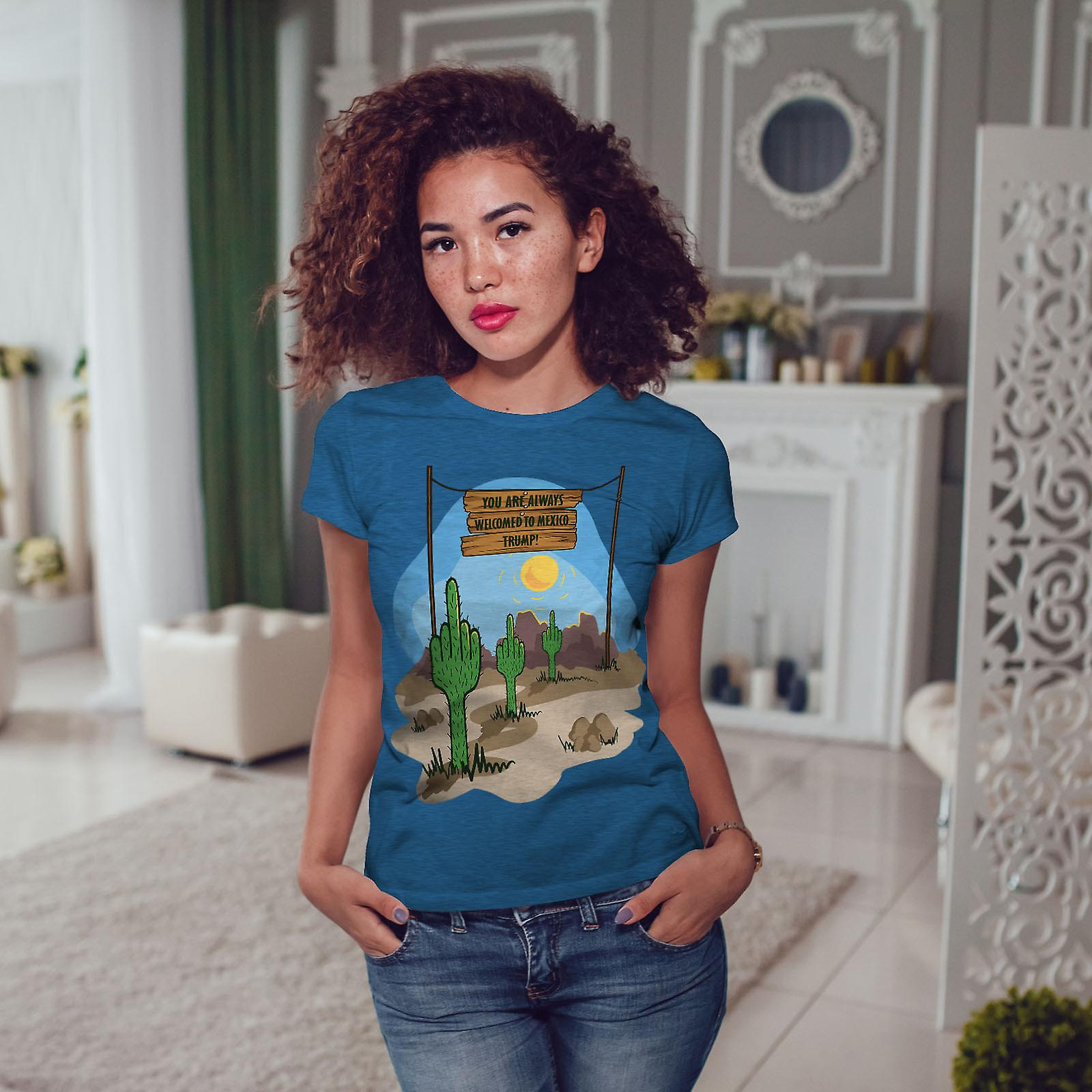 Bienvenue au Mexique BlueT-shirt Royal femme   Wellcoda