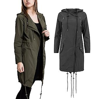 Urban classics ladies - asymetric light parka light jacket