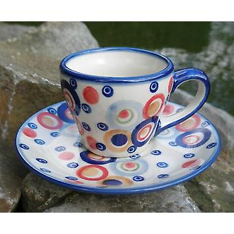 Espresso Cup & saucer, 2nd choice, colorful, BSN J-1297