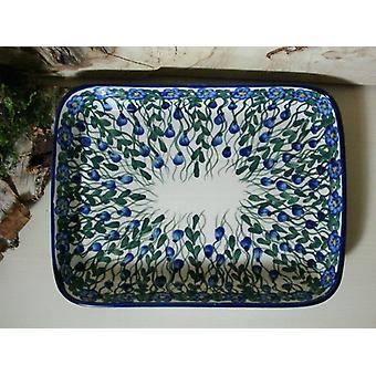 Schale / Auflaufform, 19 x 24 x 4 cm, Unikat 44 - boleslawiec aardewerk - BSN 6595