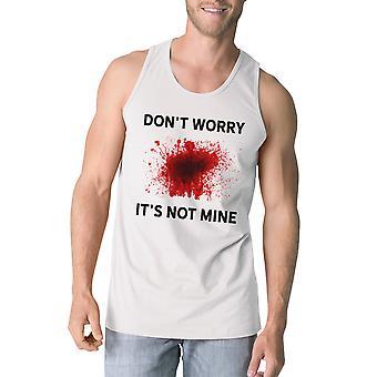 そのない鉱山血タンクトップ メンズ ホワイト ノースリーブ t シャツのハロウィーン
