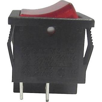 SCI Toggle switch R13-33B-02RT 250 V AC 6 A 1 x Off/On latch 1 pc(s)