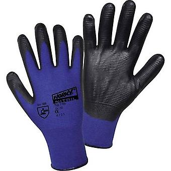 L+D worky Nylon Super Grip Nitrile 1165 Nylon Protective glove Size (gloves): 11, XXL EN 388 CAT II 1 Pair