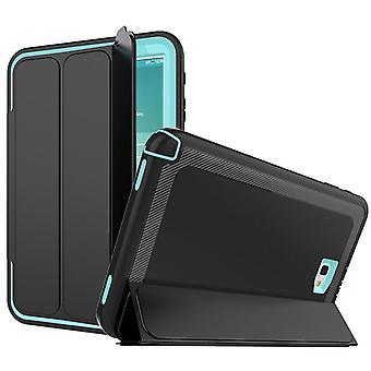 Πολυτεμάχιο υβρίδιο εξωτερική προστατευτική θήκη μπλε ανοικτό για Samsung Galaxy Tab A 10,1 T580 T585 περίπτωση αφύπνισης 3folt