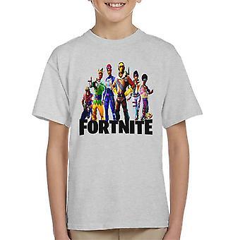 Fornite Holiday Skins auf Zeichen Kinder T-Shirt