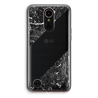 LG K10 (2018) Transparent fodral (Soft) - svart marmor