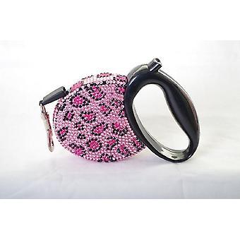 Pink Multi Lustre Spot Dog Collar