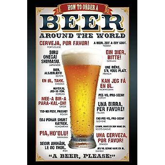 Beer Around the World Poster  How to order a beer