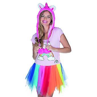 Theodor Hat Roze Eenhoorn voor volwassen accessoire Unicorn carnaval carnaval