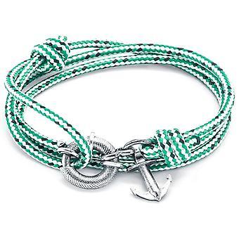 Anclaje y Clyde equipo de plata y cuerda pulsera - tablero verde