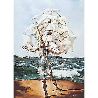 Le navire affiche Print par Salvador Dali (20 x 28)