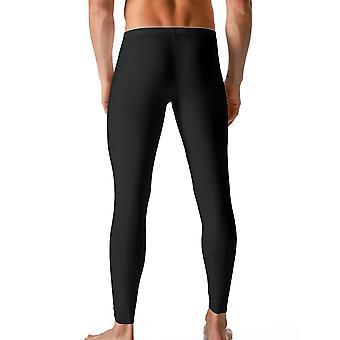 Mey 46042-123 Männer trockene Baumwolle schwarz einfarbig Knöchel Länge Leggings