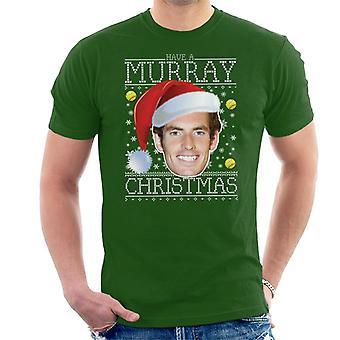 La t-shirt da uomo maglia natale Andy Murray