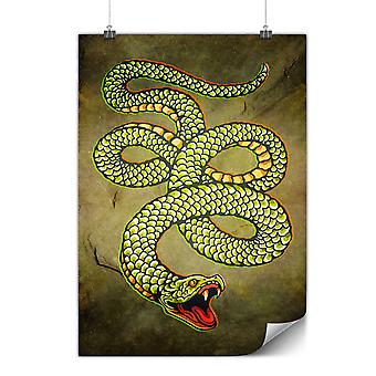 Matte or Glossy Poster with Cobra Snake Animal | Wellcoda | *y3566