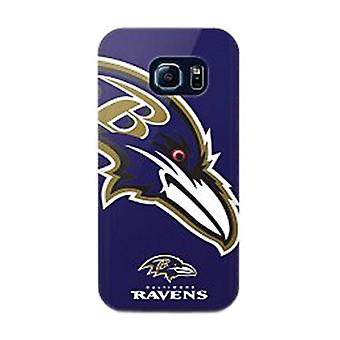 Mizco Sports NFL Oversized Snapback TPU Case for Samsung Galaxy S6 Edge (Baltimore Ravens)