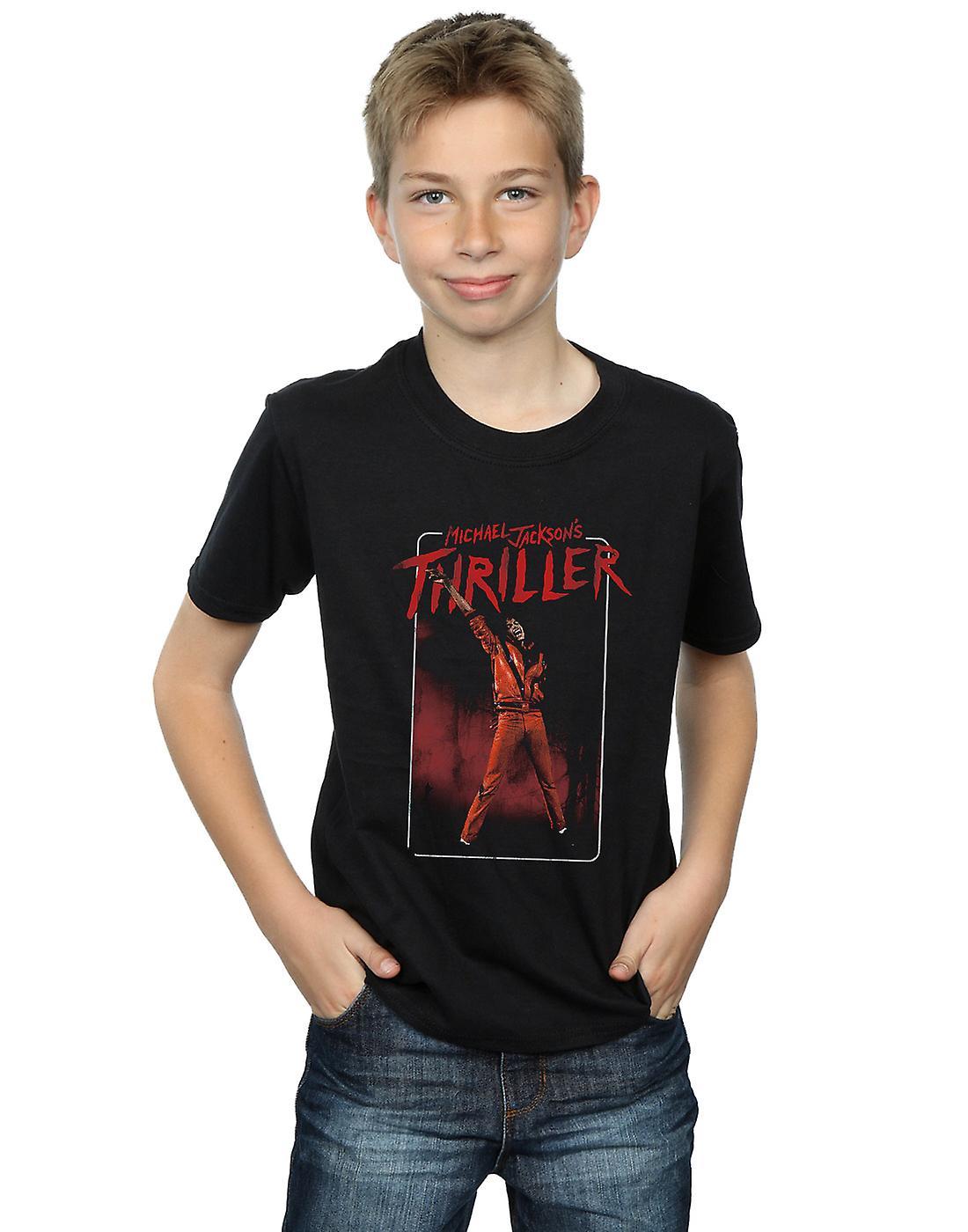 Michael Jackson Boys Thriller Red T-Shirt