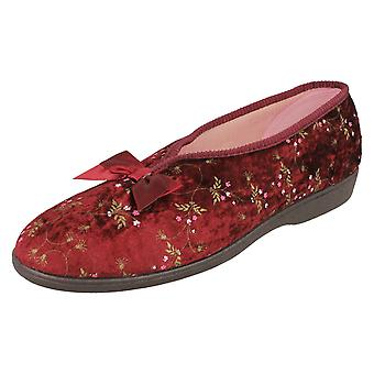 Ladies Grosby Floral Print Comfort Slippers 204778 - Pink Synthetic - UK Size 3 - EU Size 35 - US Size 5