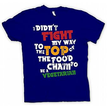 Kids T-shirt - I Didnt Fight My Way To Top Of Food Chain To Be A Vegetarian