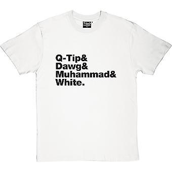 Een stam genaamd Quest line-up blanke mannen ' s T-shirt