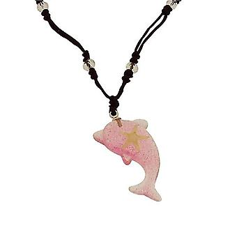 The Olivia Collection Dolphin Shaped Nautical Underwater Life Necklace with REAL Starfish