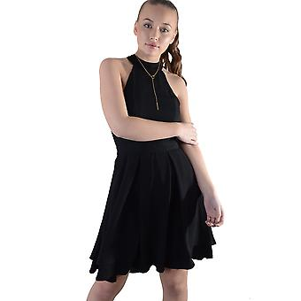 Lovemystyle svart öppen tillbaka ärmlös knä längd Skater klänning - prov