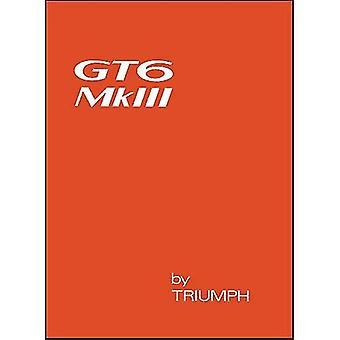 Triumph GT6 Mk 3 proprietari manuale (ufficiale proprietari manuale): Numero del pezzo 545186