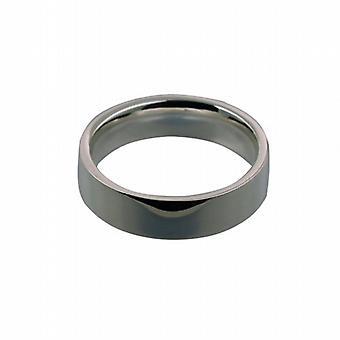 البلاتين المحكمة شقة عادي 6 مم على شكل Z حجم خاتم الزواج