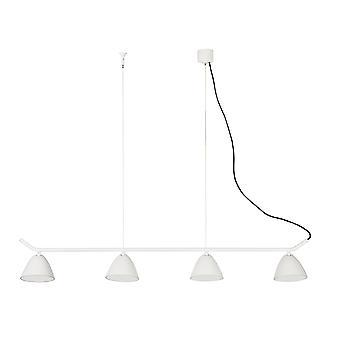 Faro - Flash vit fyra ljus justerbar LED pendel FARO20203
