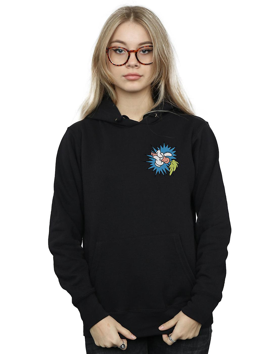 Looney Tunes Women's Bugs Bunny Carrot Breast Print Hoodie