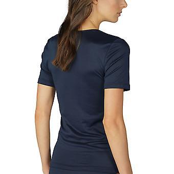Élégance nuit bleu manches courtes Top Mey 56201-408 la femme