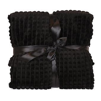Manta 130x160 cm Negro