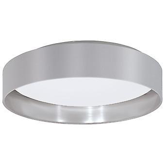 Eglo - Maserlo LED Flush Decke Licht Satin Nickel grau EG31623