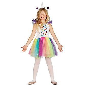 Traje do vestido extravagante unicórnio meninas