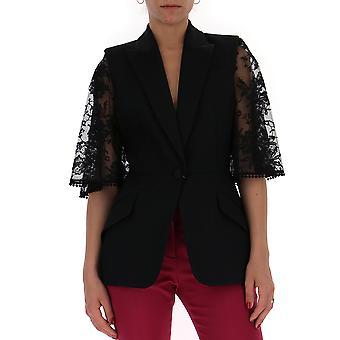 Alexander Mcqueen 530108qlj091000 Mulheres's Black Cotton Blazer